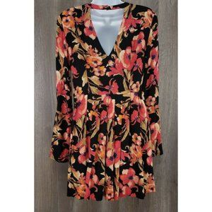 Free People Dresses - Free People Bell Sleeve Floral Cutout Mini Dress